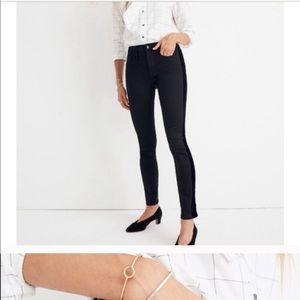 """Madewell 9"""" high rise skinny velvet jeans 29"""